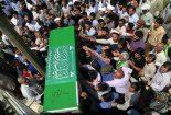 مراسم استقبال از پیکر شهید مدافع حرم خیرالله صمدی